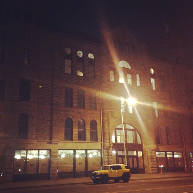 GAR @ night #gardetroit #republictavern #petergurskidesign #architecturedetroit